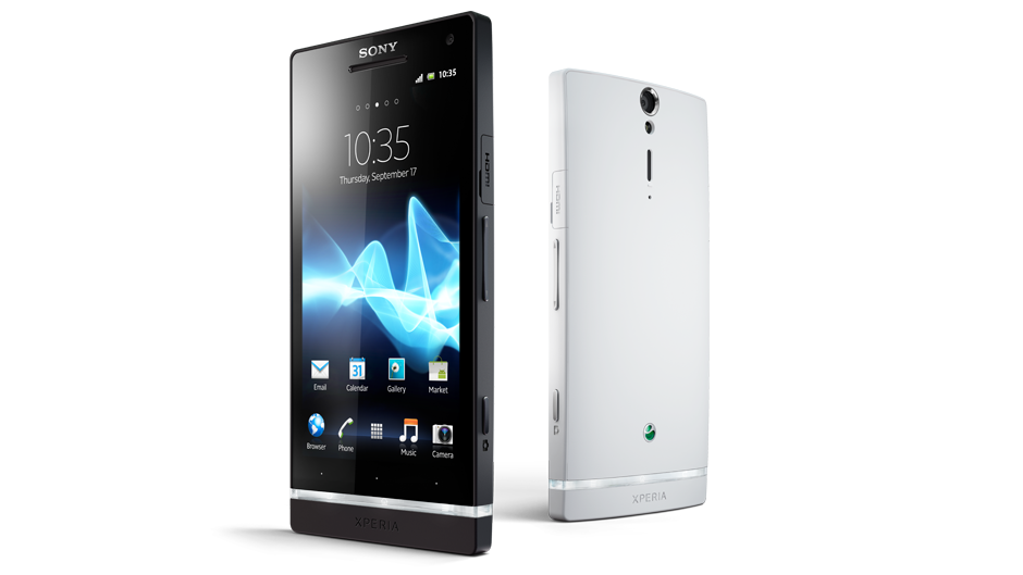 xperia s black white 45degree android smartphone