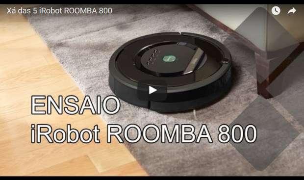 Xá das 5 iRobot Roomba 800