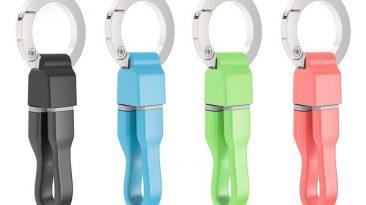 cabo Hama microUSB com porta-chaves