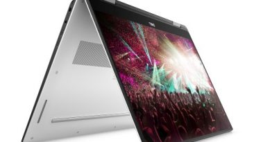 Dell XPS 15 2 in 1 on white 7 low