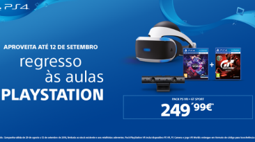 Regresso às Aulas PlayStation - Oferta PS VR