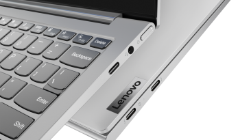 Lenovo Yoga Slim 7i Metal Closeup Ports Light Silver